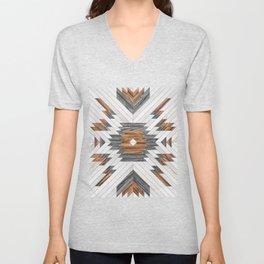 Urban Tribal Pattern No.8 - Aztec - Wood Unisex V-Neck