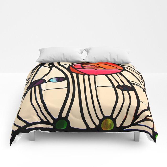 "Charles Rennie Mackintosh ""Stained glass window"" Comforters"