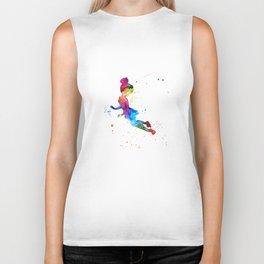Tinker Bell, Watercolor, girl Biker Tank