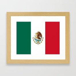 Flag of mexico- mexico,mexico city,mexicano,mexicana,latine,peso,spain,Guadalajara,Monterrey Framed Art Print