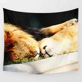Cat Nap (Jungle Love) Wall Tapestry