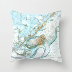Key Largo Octopus Throw Pillow