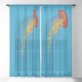 Stitches: Jellyfish Sheer Curtain