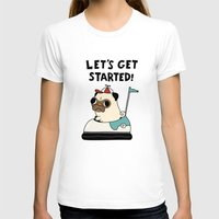 pug T-shirts featuring PUG! by Jarvis Glasses