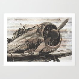 Old airplane 1 Art Print