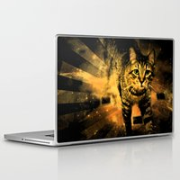 daredevil Laptop & iPad Skins featuring Cat Fire Of The Crossing Oblivion by Distortion Art