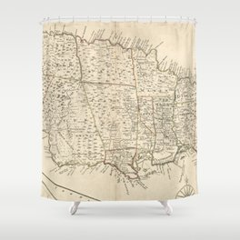 Vintage Map Of Jamaica 1771 2 Shower Curtain