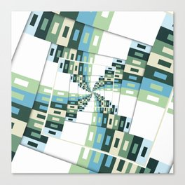 Retro Geometric Rotation Canvas Print