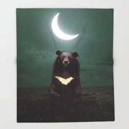 my light in the darkness Throw Blanket