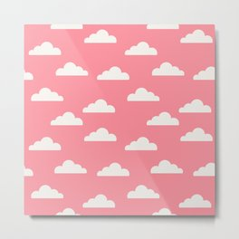 Clouds Pink Metal Print