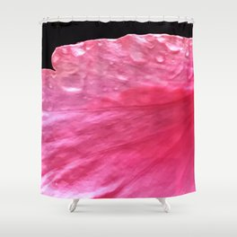 Pink 'Angel Wing' Flower Petal With Dew  Shower Curtain