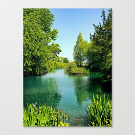 Aqua Lake Canvas Print