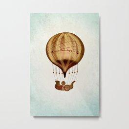 Hot Air Balloon Pioneer Metal Print