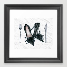 No Carbs for Dinner: Flirty  Framed Art Print