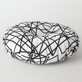Lazer Dance Black on White Floor Pillow