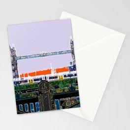 London Tower bridge & tube pop artwok, England photogrphy, mind the gap Stationery Cards