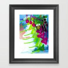 Wave pink Framed Art Print