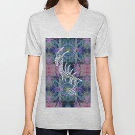 Frankie Floral Leafy Sea Dragon Unisex V-Neck