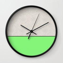 Bathing Conrete - In Matt Green, pop art, geometric style Wall Clock
