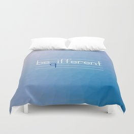 Be Different Typography Design Duvet Cover