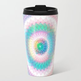 Orb mandala 3 baby blue Travel Mug