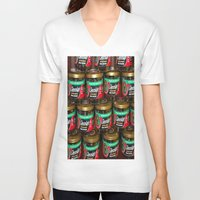 chocolate V-neck T-shirts featuring chocolate by lennyfdzz
