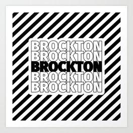 Brockton USA CITY Funny Gifts Art Print