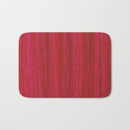 Strawberry Colored Vertical Stripes Bath Mat