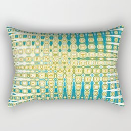 Turquoise Abstract Rectangular Pillow
