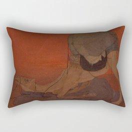 Abanindranath Tagore - Journey's End (1913) Rectangular Pillow