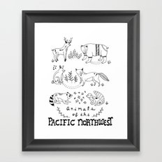 Animals of the Pacific Northwest Framed Art Print