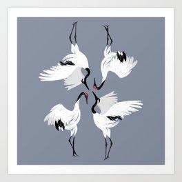 Crane Ballet Art Print