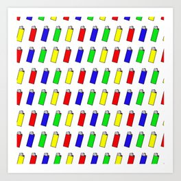Lighters: The Most Stolen Object on the Planet Art Print