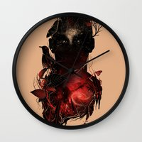 universe Wall Clocks featuring Universe Inside by nicebleed