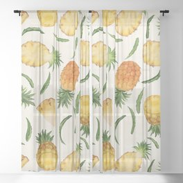 Pineapples and Slices Sheer Curtain