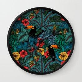 Toucan garden Wall Clock
