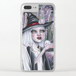 White Witch Clear iPhone Case
