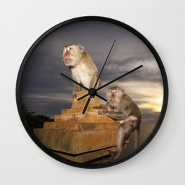 The Temple of the Monkeys Wall Clock