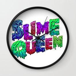 Slime Queen Kids Shirt - slime making Wall Clock