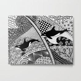 Two Orcas Metal Print