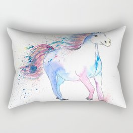 The Colorful Running Sparkling Horse Rectangular Pillow