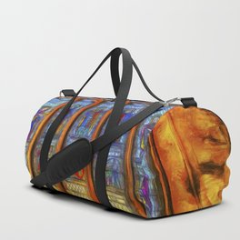 Stained Glass Window Van Gogh Duffle Bag