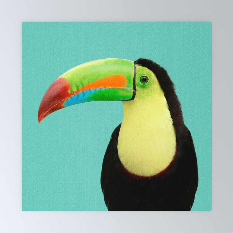 Toucan Bird Blue Mini Art Print By Galdesign Society6