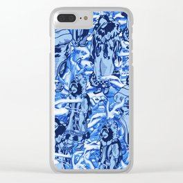 Eskimo Curlew Blue Clear iPhone Case