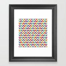 Coloured Chevron Framed Art Print