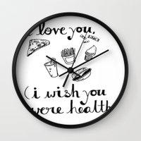 health Wall Clocks featuring Health Problems by Handwritten