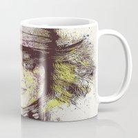 johnny depp Mugs featuring johnny depp (alice in wonderland) by Nechifor Ionut