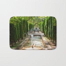 Fountain in the gardens of Almudaina - Palma de Mallorca, Spain Bath Mat