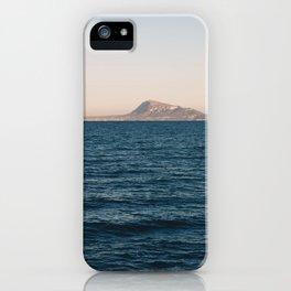 Mediterranean sea at sunset iPhone Case