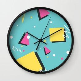 Throwback Shapeday Wall Clock